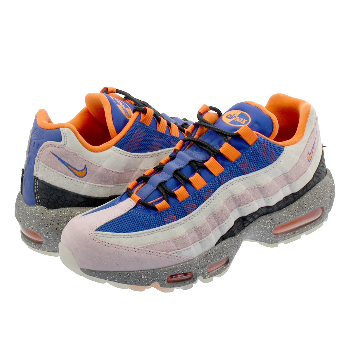 online store 0fae3 04a61 NIKE AIR MAX 95 Kie Ney AMAX 95 CHAMPAGNE/SAFETY ORANGE/SPORT ROYAL  av7014-600