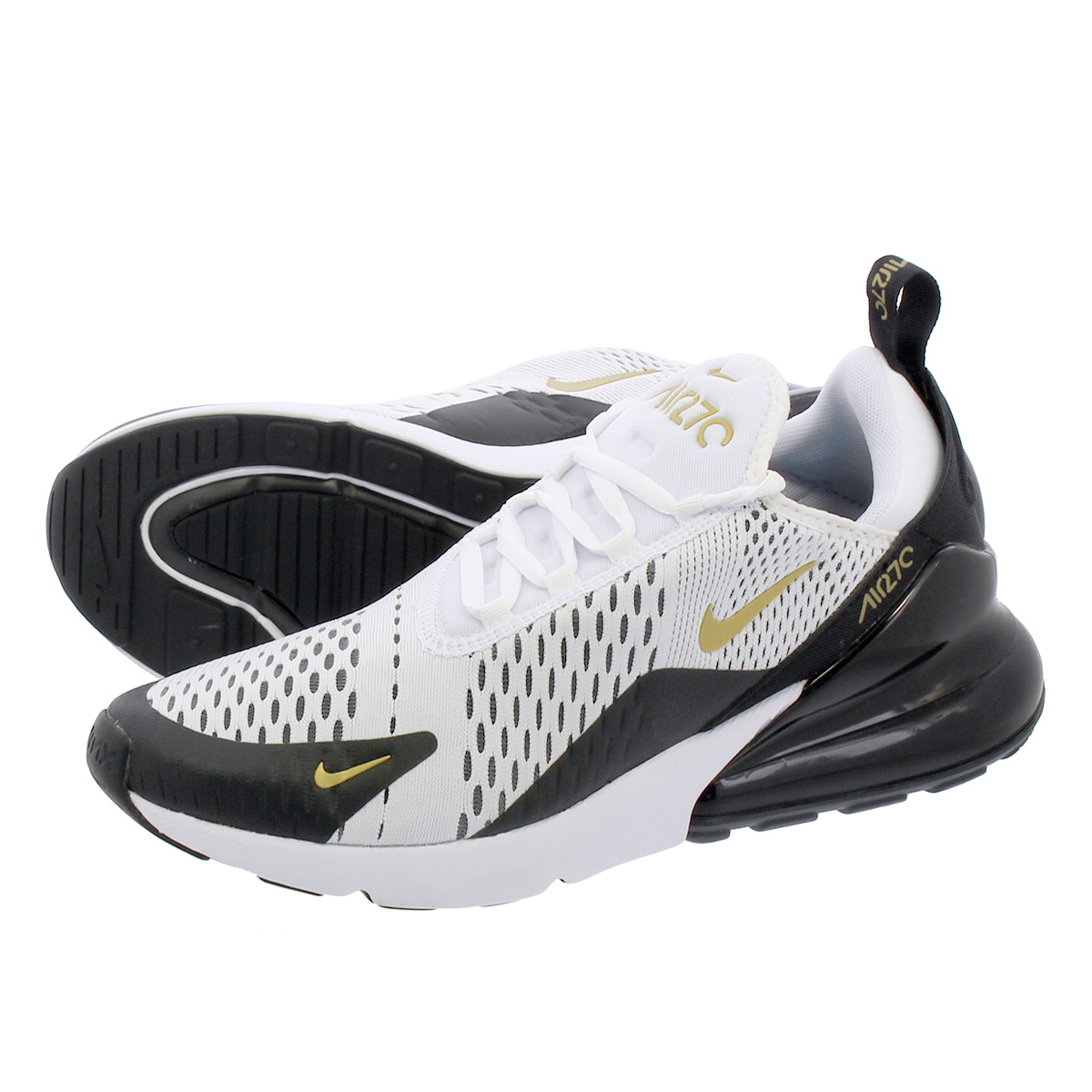 new product 21664 94128 NIKE AIR MAX 270 Kie Ney AMAX 270 WHITE/METALLIC GOLD/BLACK av7892-100