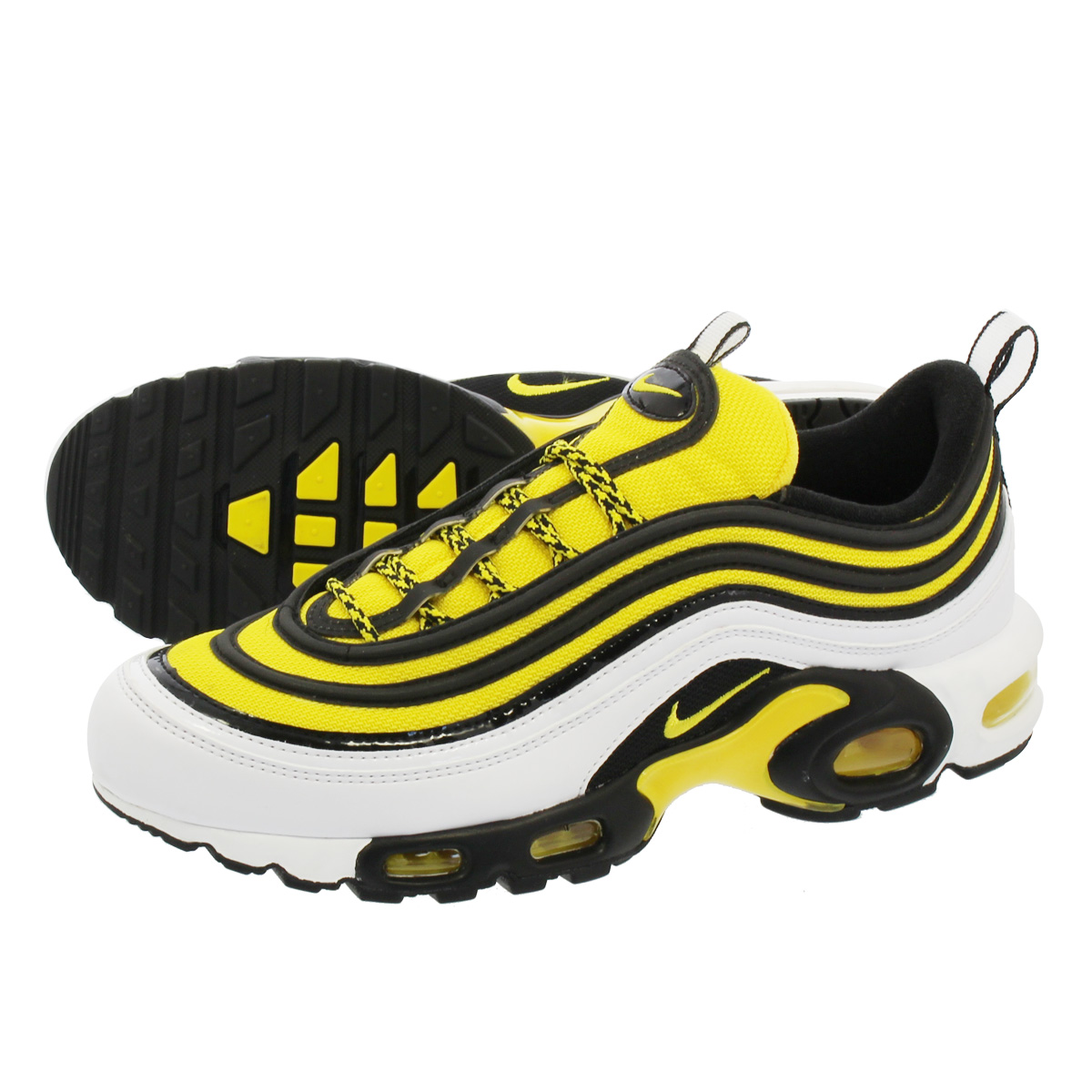 NIKE AIR MAX PLUS 97 【FREQUENCY PACK】 ナイキ エア マックス プラス 97 TOUR WHITE/YELLOW/BLACK av7936-100