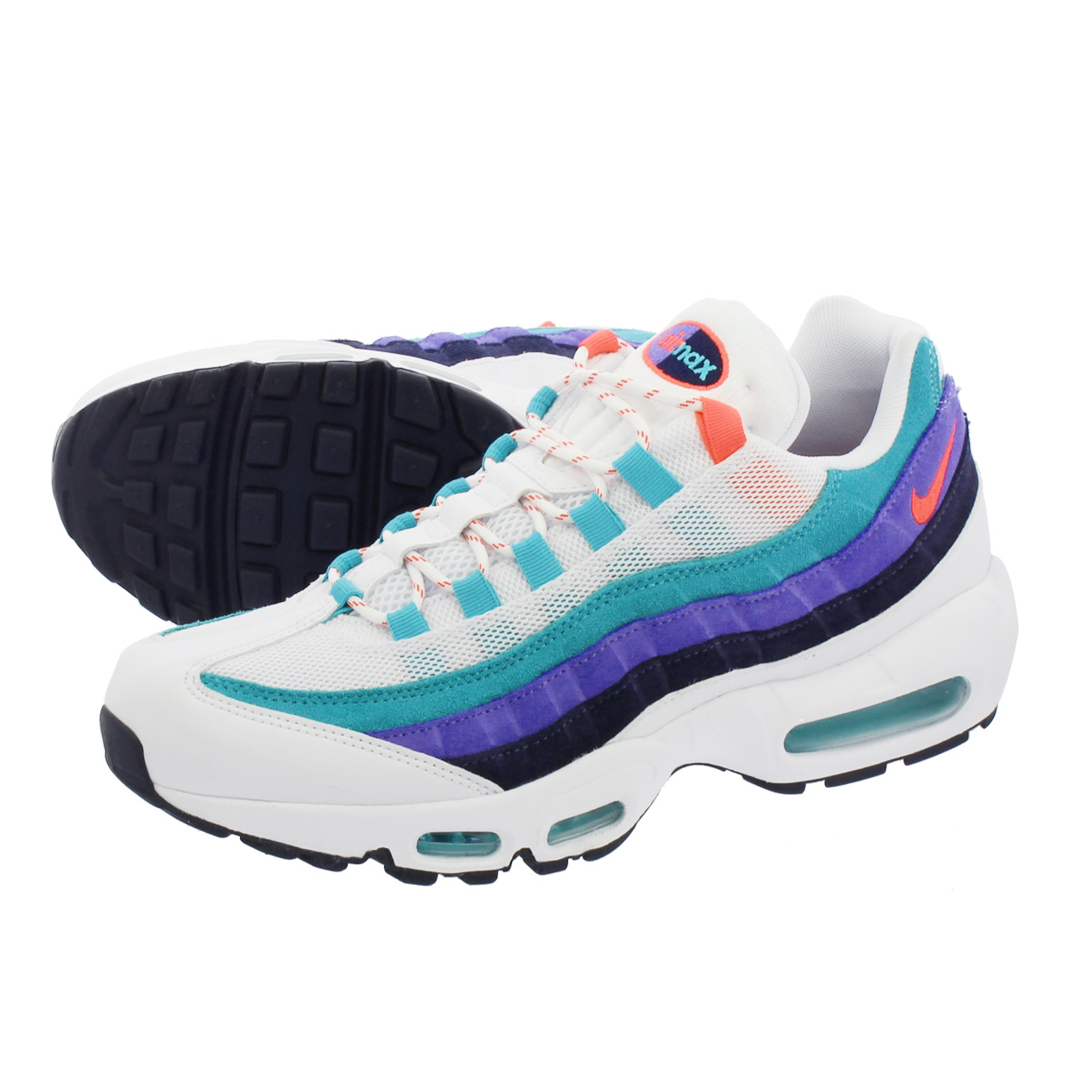 NIKE AIR MAX 95 ナイキ エア マックス 95 WHITE/FLASH CRIMSON/HYPER JADE av7939-100