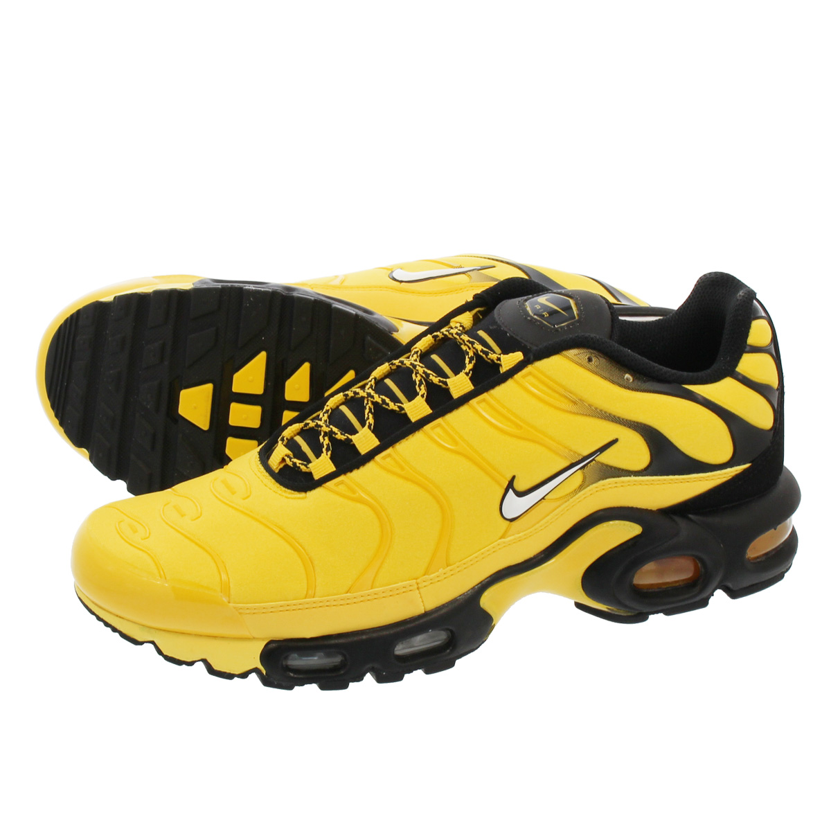 LOWTEX PLUS  NIKE AIR MAX PLUS Kie Ney AMAX plus TOUR YELLOW WHITE ... 56d395013