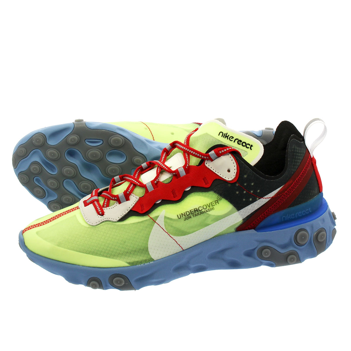 the latest 6df5d c8881 NIKE X UNDERCOVER REACT ELEMENT 87 Nike under cover re-act element 87 VOLT UNIVERSITY  RED BLACK WHITE SUMMIT WHITE bq2718-700