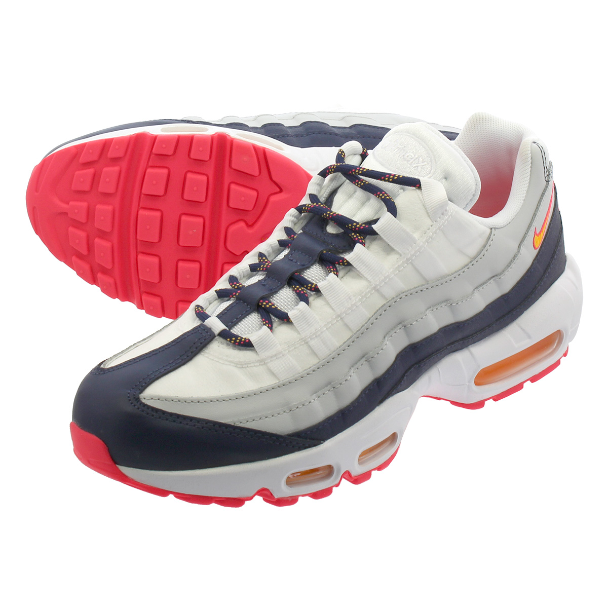 5c43ea823c LOWTEX PLUS: NIKE WMNS AIR MAX 95 Nike women Air Max 95 PURE  PLATINUM/MIDNIGHT NAVY/LASER ORANGE 307,960-405 | Rakuten Global Market