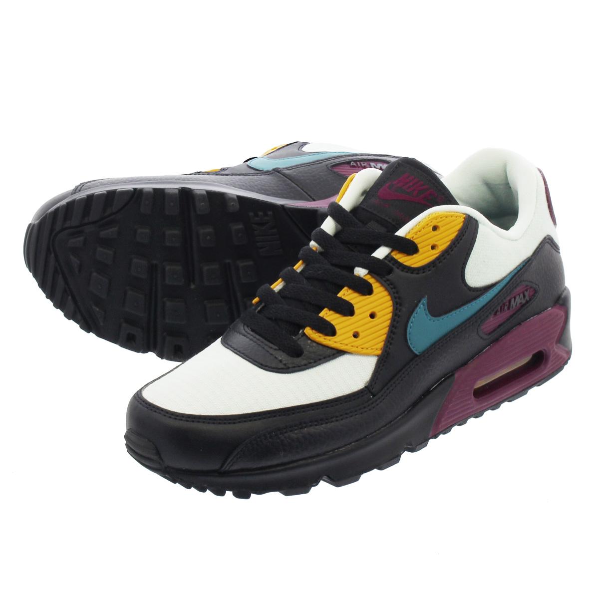 Women's Nike Air Max 90 SILVER GEODE TEAL BORDEAUX PURPLE