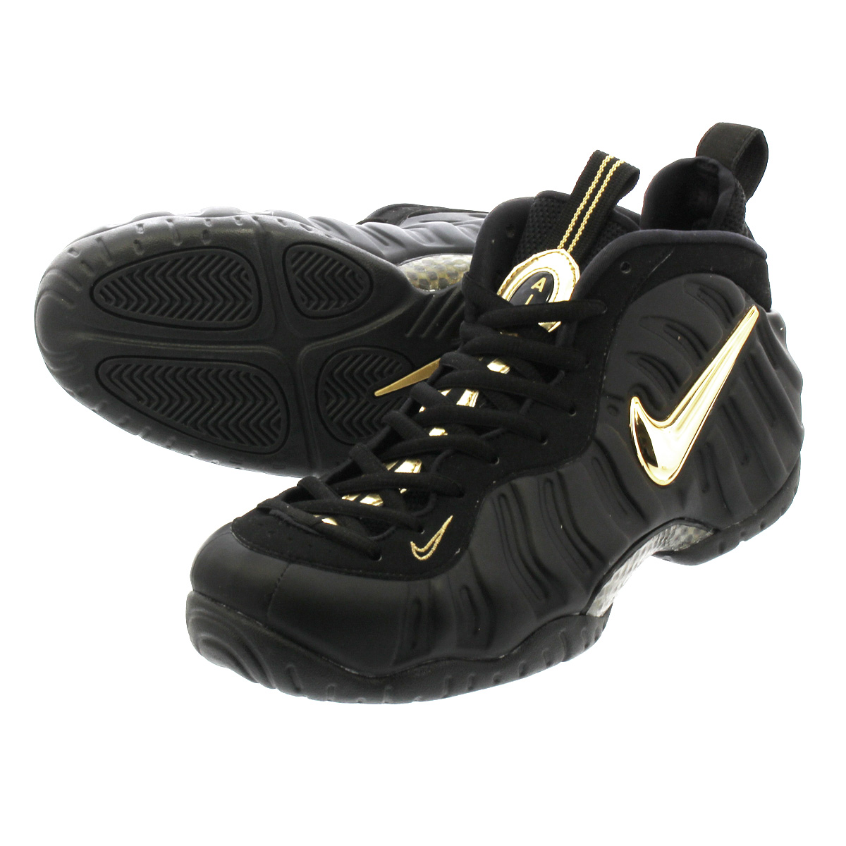 new product 5c806 a4960 NIKE AIR FOAMPOSITE PRO ナイキエアフォームポジットプロ BLACK/METALLIC GOLD 624,041-009