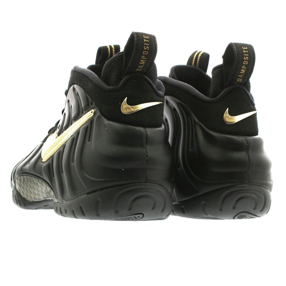 new product 0c924 fee9a NIKE AIR FOAMPOSITE PRO ナイキエアフォームポジットプロ BLACK/METALLIC GOLD 624,041-009