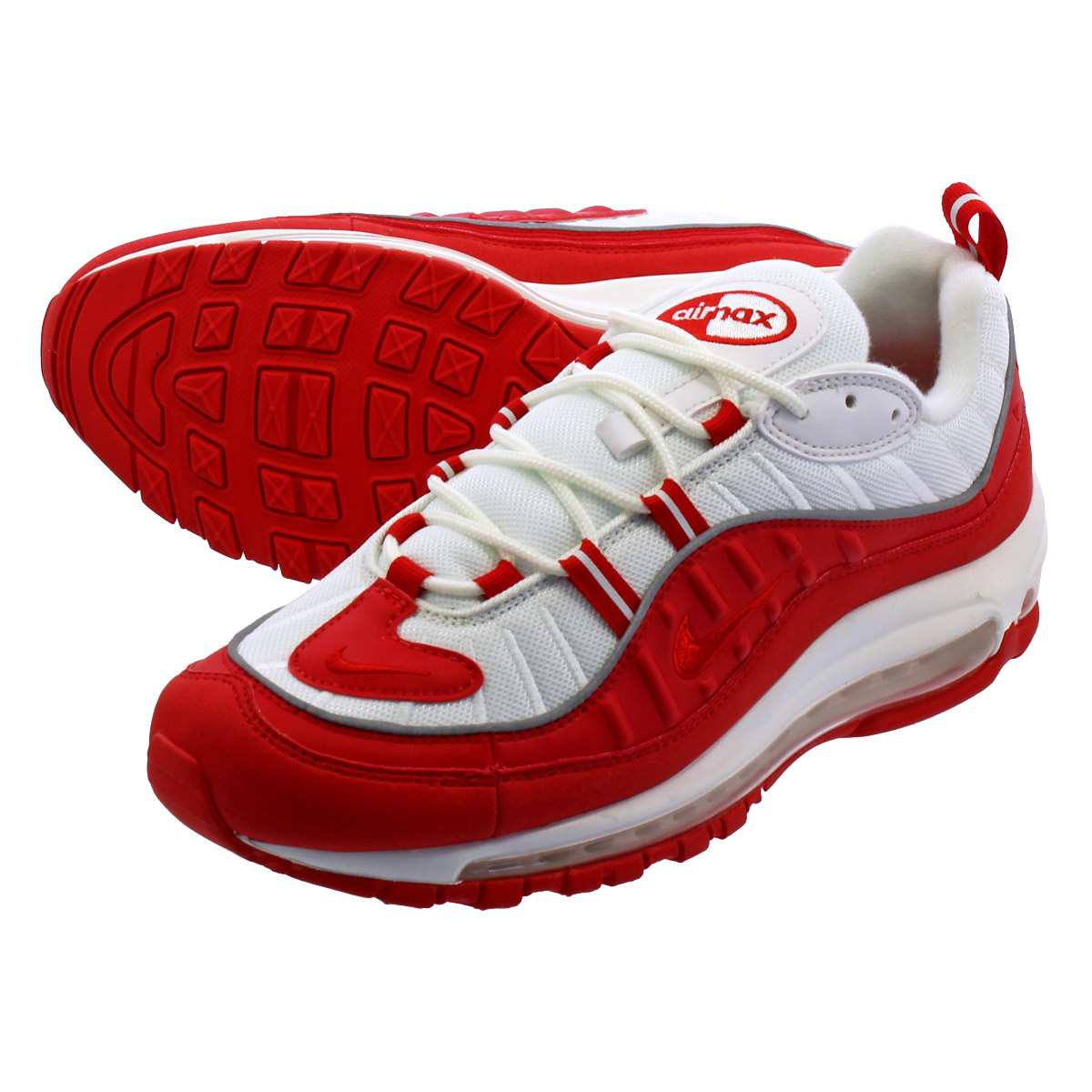 NIKE AIR MAX 98 Kie Ney AMAX 98 UNIVERSITY REDUNIVERSITY RED 640,744 602