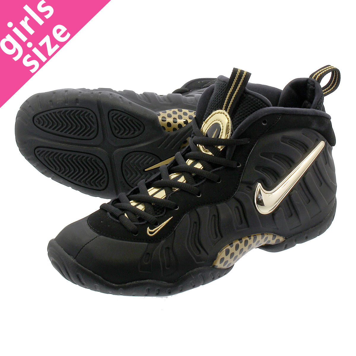 2be484aba97 NIKE LITTLE POSITE PRO GS ナイキリトルポジットプロ GS BLACK METALLIC GOLD 644