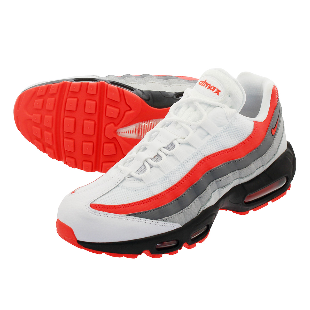 LOWTEX PLUS  NIKE AIR MAX 95 ESSENTIAL Kie Ney AMAX 95 essential WHITE BRIGHT  CRIMSON BLACK PURE PLATINUM 749 2e9ff04ba