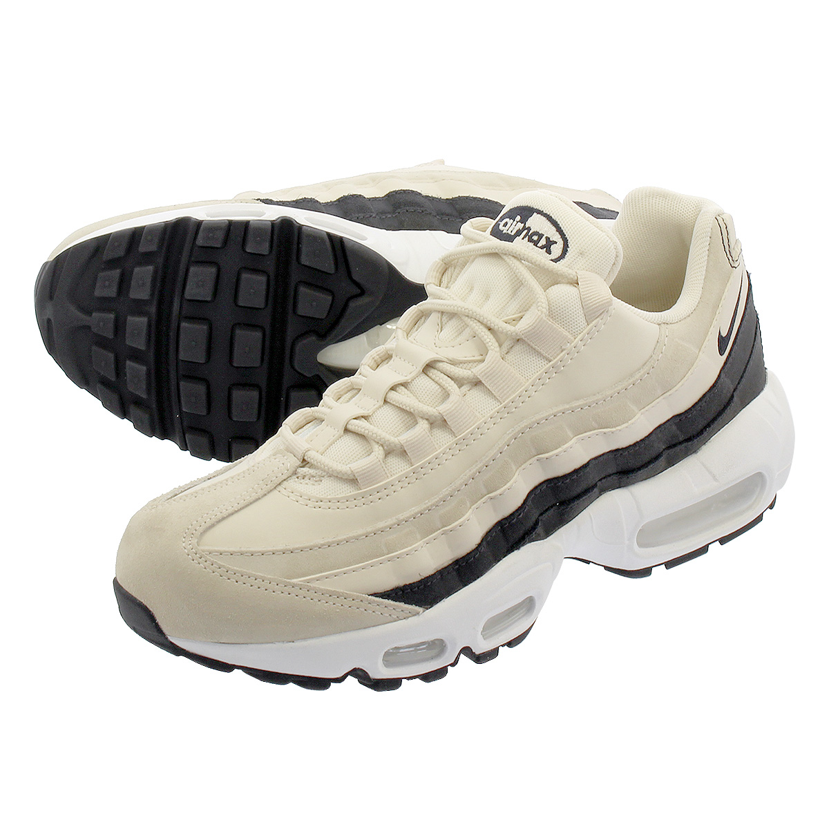 buy popular 8bc14 9913c NIKE WMNS AIR MAX 95 PRM Nike women Air Max 95 premium LIGHT CREAM/OIL  GREY/SUMMIT WHITE 807,443-203