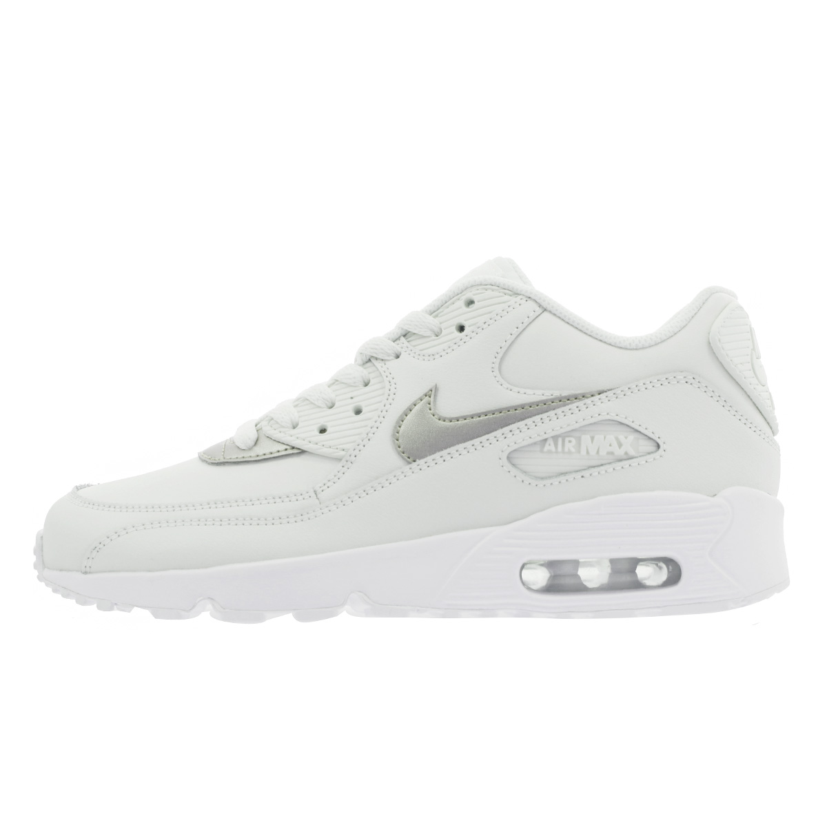 sports shoes 7c212 49426 NIKE AIR MAX 90 LTR GS Kie Ney AMAX 90 leather GS PHANTOM METALLIC RED  BRONZE WHITE 833,376-014