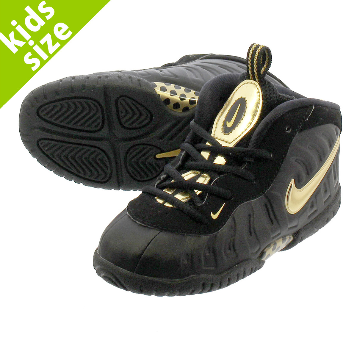 new styles 6e8c6 c3f05 NIKE AIR FORCE I FOAMPOSITE PRO TD ナイキエアリトルポジットプロ TD BLACK/METALLIC GOLD