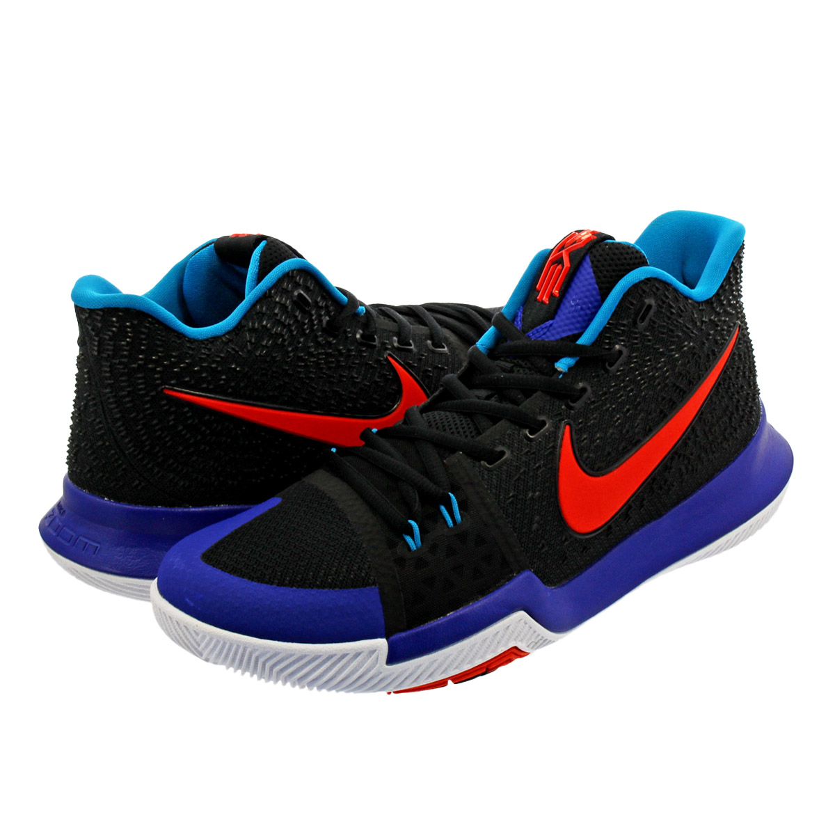 NIKE KYRIE 3 ナイキ カイリー 3 LACK/TEAM ORANGE/CONCORD/NEO TURQUOISE 852395-007