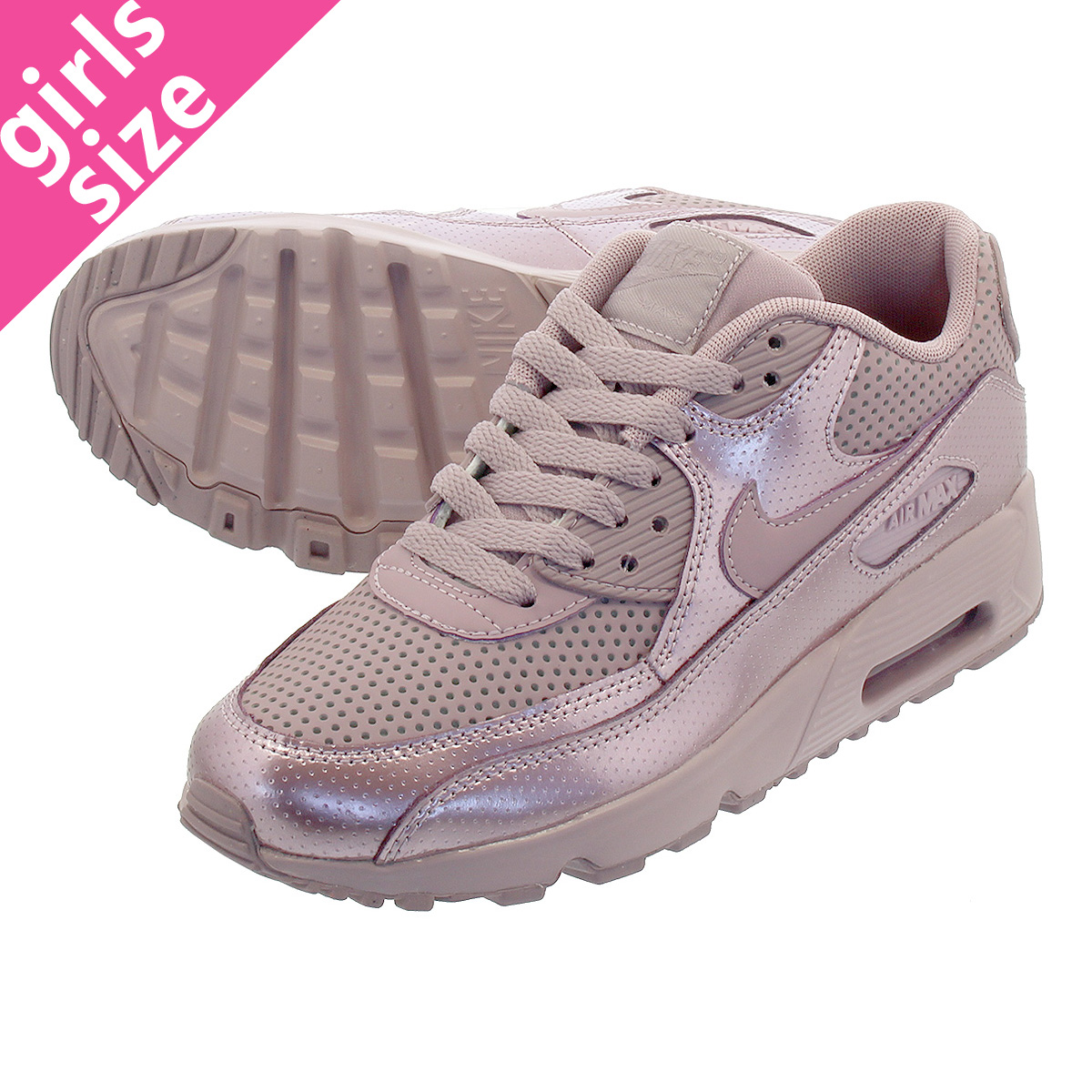 Nike Youth Air Max 90 SE LTR GS Leather Elemental Rose Trainers 5 US