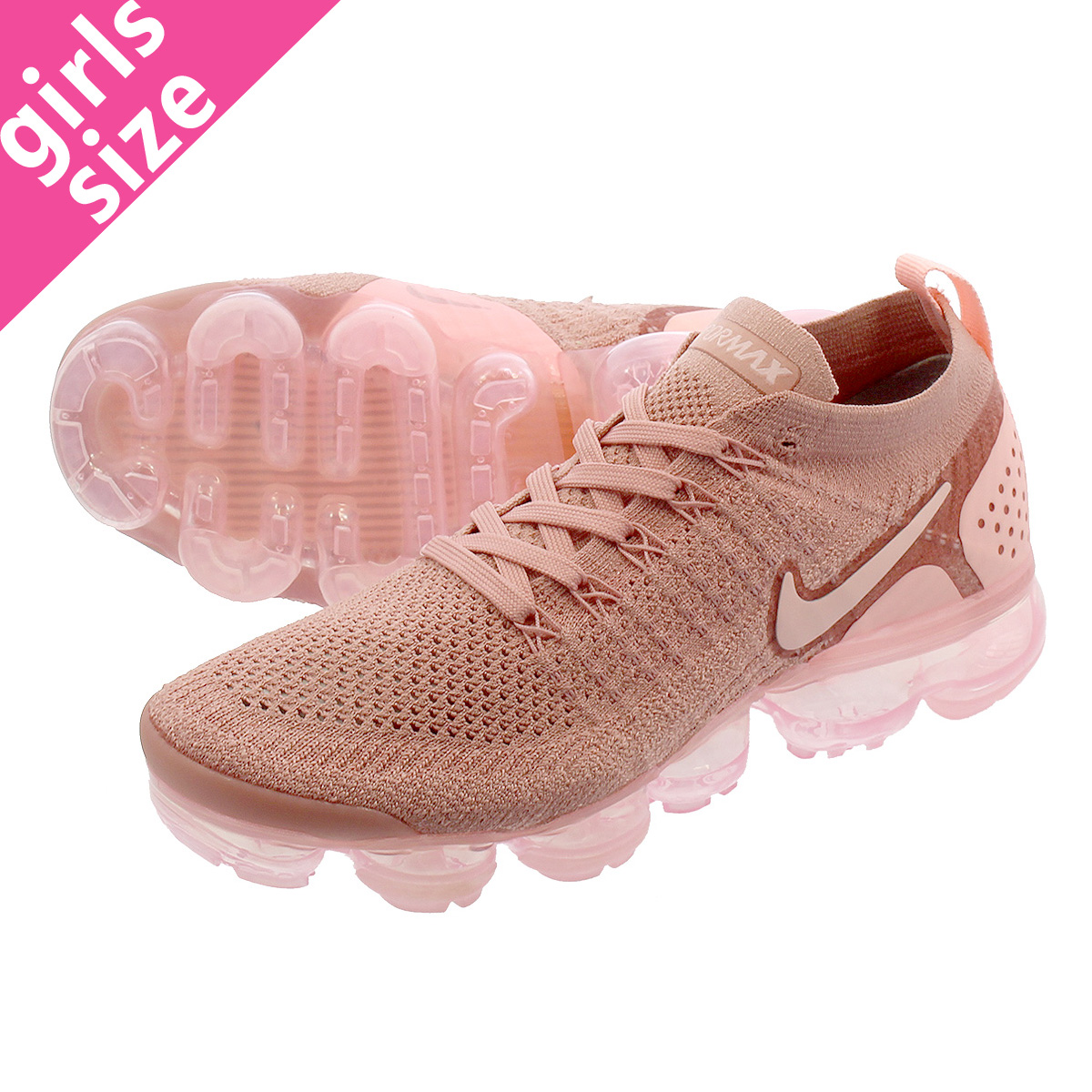 5911eb9bad LOWTEX PLUS: NIKE WMNS AIR VAPORMAX FLYKNIT 2 Nike women vapor max fried  food knit RUST PINK/STORM PINK/PINK TINT 942,843-600 | Rakuten Global Market