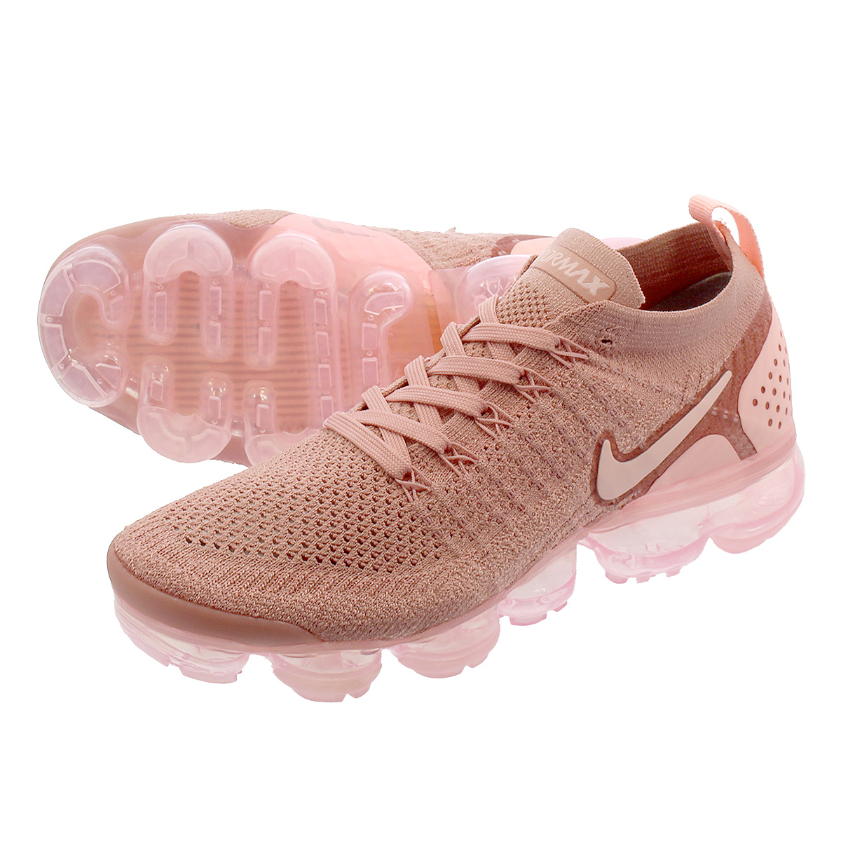 competitive price d93ba e74de NIKE WMNS AIR VAPORMAX FLYKNIT 2 Nike women vapor max fried food knit RUST  PINK  ...