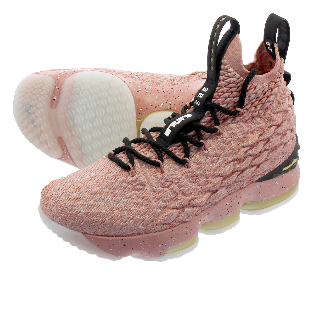 【大人気の女の子サイズ♪】 NIKE LEBRON 15 GS 【HOlLLYWOOD】 ナイキ レブロン 15 GS RUST PINK/METALLIC GOLD/BLACK 943762-600