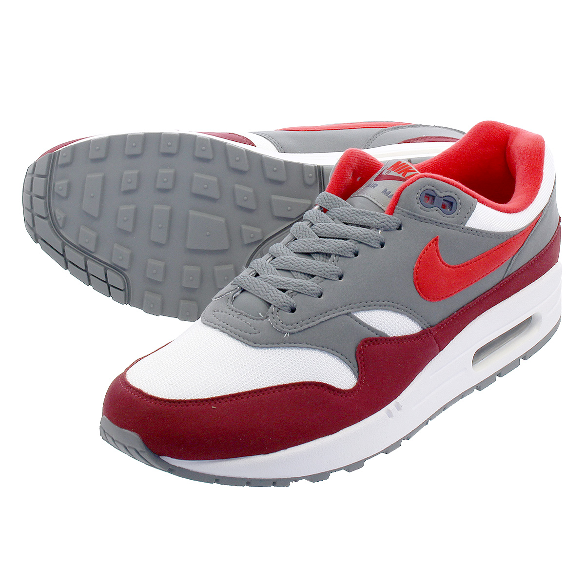 8a163dcb82 NIKE AIR MAX 1 Kie Ney AMAX 1 WHITE/UNIVERSITY RED/COOL GREY/TEAM RED  ah8145-100
