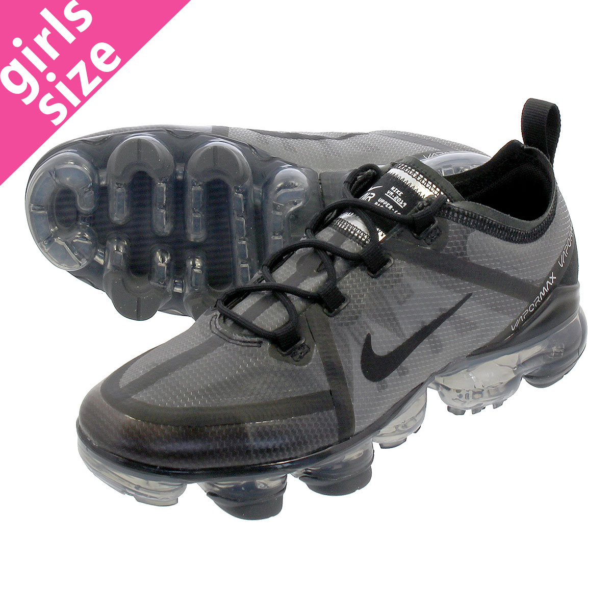 low priced 516c6 5874a NIKE AIR VAPORMAX 2019 GS Nike air vapor max 2019 GS BLACK BLACK BLACK ...