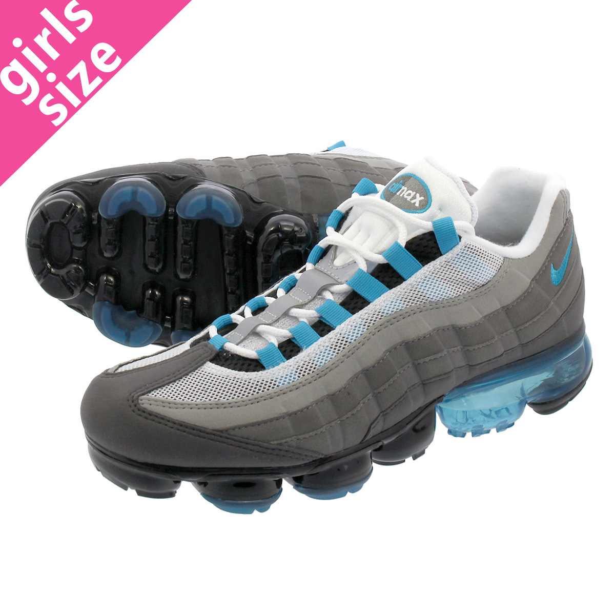 f2014544ff1 NIKE AIR VAPORMAX 95 Nike air vapor max 95 BLACK NEO TURQ MEDIUM ASH DARK  PEWTER aj7292-002
