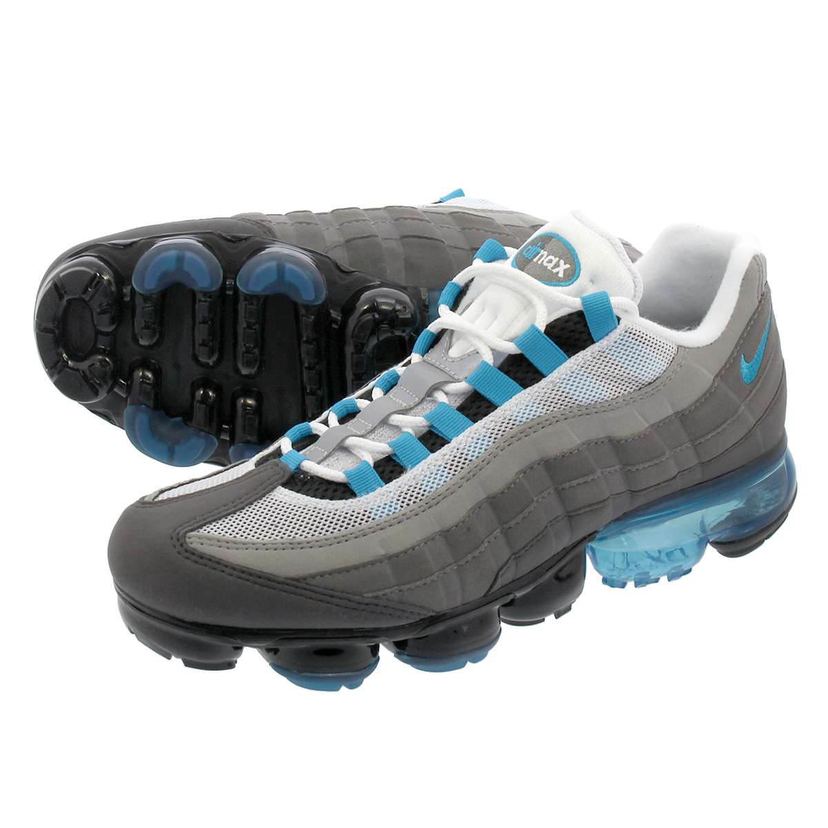best sneakers ab9ad a309c NIKE AIR VAPORMAX 95 Nike air vapor max 95 BLACK/NEO TURQ/MEDIUM ASH/DARK  PEWTER aj7292-002