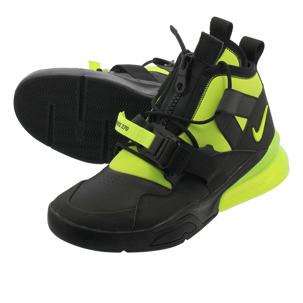 on sale 3b4ae f0cee NIKE AIR FORCE 270 UTILITY Nike air force 270 utility BLACK VOLT aq0572-001
