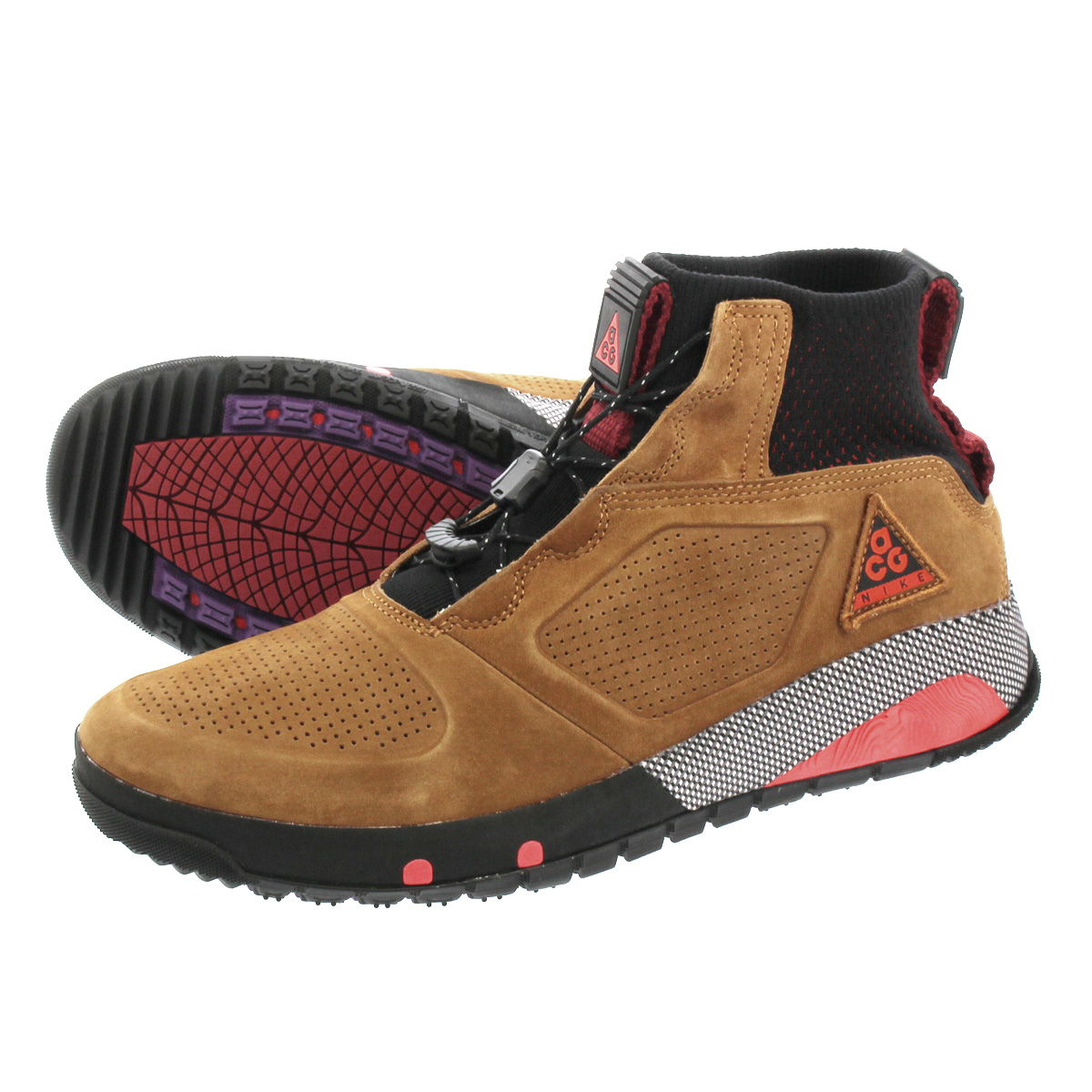 NIKE ACG RUCKEL RIDGE ナイキ ACG ラックルリッジ LIGHT BRITISH TAN/BLACK/RED aq9333-226