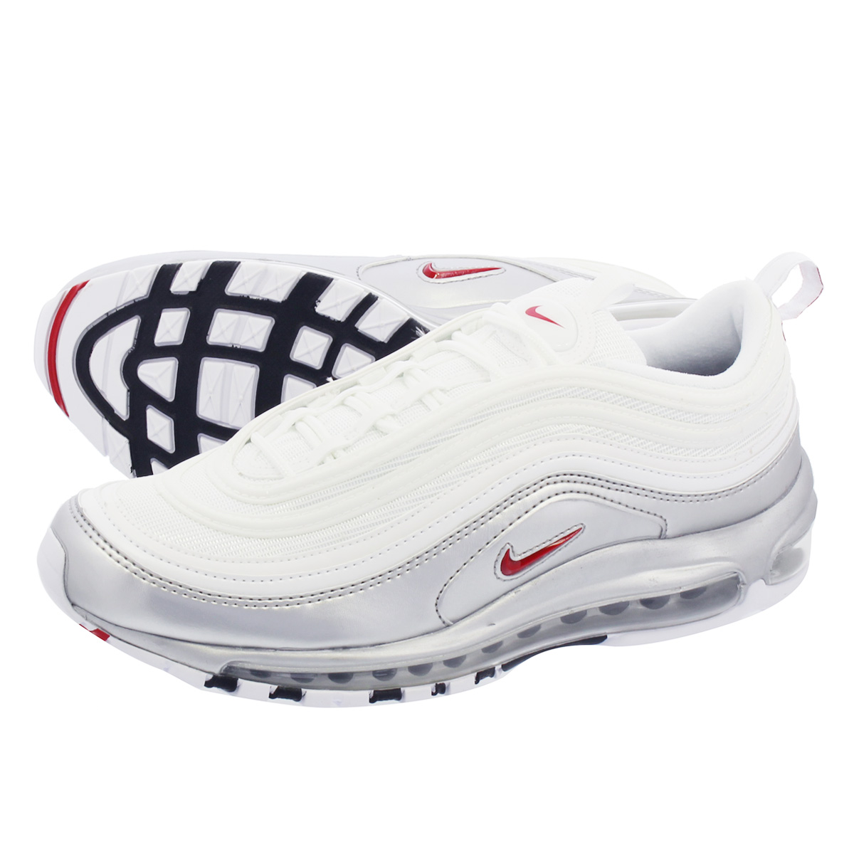 on sale 2bcf0 6b088 NIKE AIR MAX 97 QS Kie Ney AMAX 97 QS BLACK VARSITY RED METALLIC SILVER WHITE  at5458-100