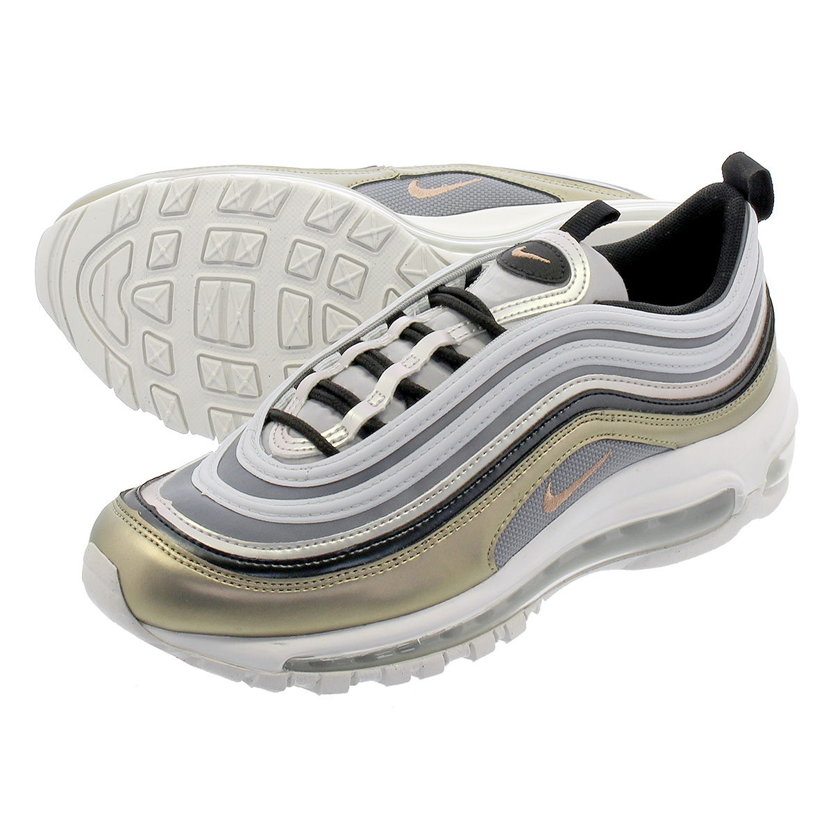 Nike Air Max 97 (Metallic PlatinumMetallic Red Bronze) GS Kids Shoes AV3181 001   eBay