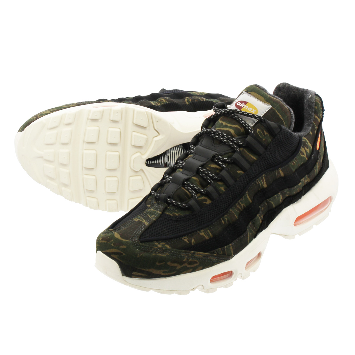 online store 2177e cafa5 NIKE AIR MAX 95 CARHARTT WIP Kie Ney AMAX 95 car heart BLACK TOTAL ORANGE