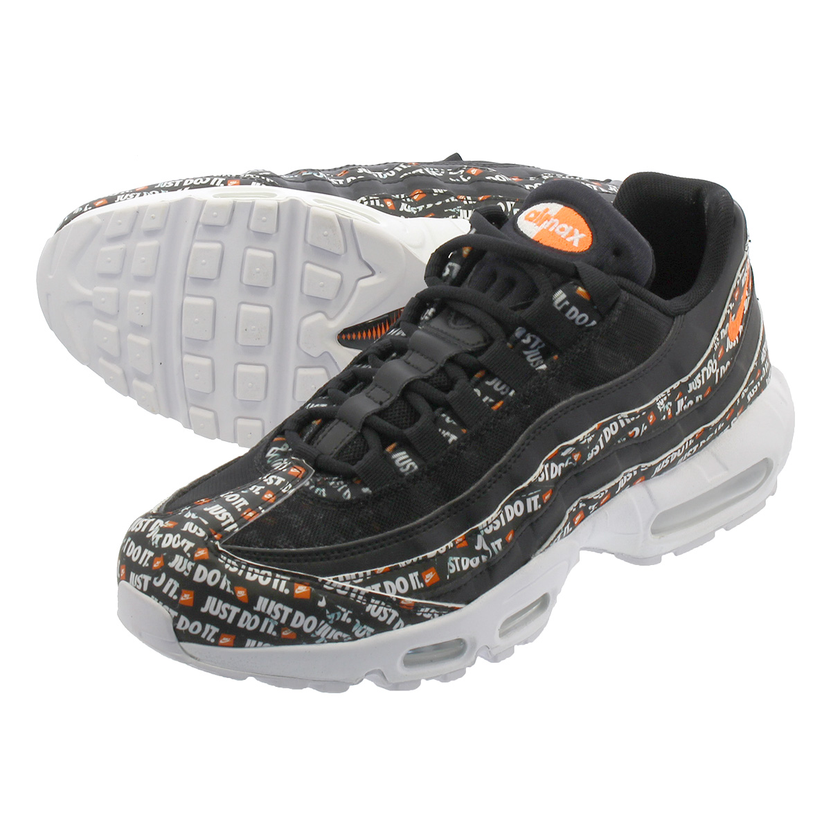 new arrival 242ff be477 NIKE AIR MAX 95 SE Kie Ney AMAX 95 SE BLACK BLACK WHITE TOTAL ORANGE  av6246-001