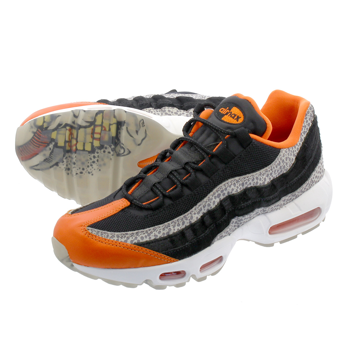 c7fc55c647 NIKE AIR MAX 95 Kie Ney AMAX 95 CHAMPAGNE/SAFETY ORANGE/SPORT ROYAL av7014  ...