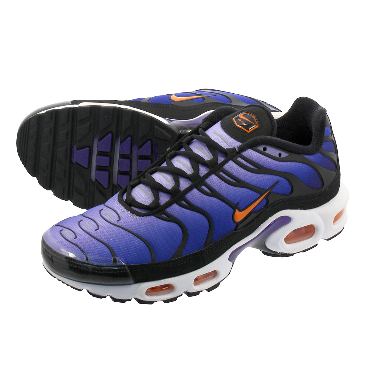 LOWTEX PLUS  NIKE AIR MAX PLUS OG Kie Ney AMAX plus OG BLACK TOTAL  ORANGE VOLTAGE PURPLE  467b3cb5e