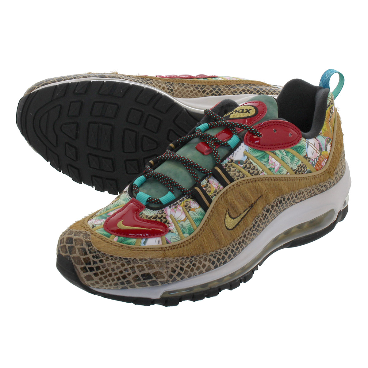 NIKE AIR MAX 98 【CHINESE NEW YEAR】 ナイキ エア マックス 98 WHEAT/METALLIC GOLD/BLACK bv6649-708