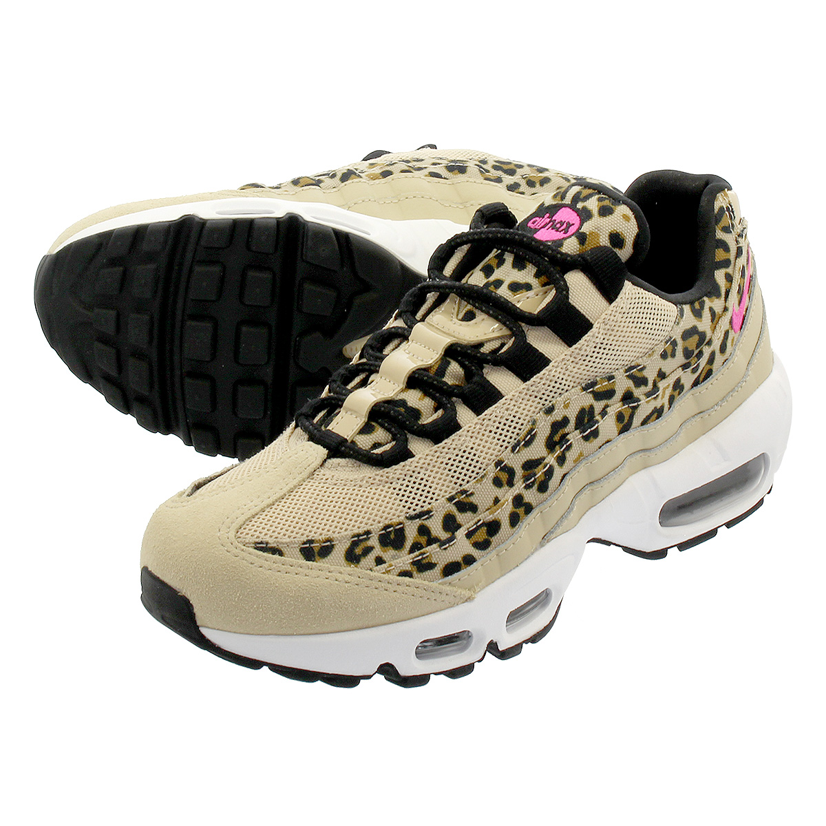 hot sale online dd22e b5d26 NIKE WMNS AIR MAX 95 PRM Nike women Air Max 95 premium DESERT ORE/LASER  FUCHSIA/BLACK/WHEAT cd0180-200