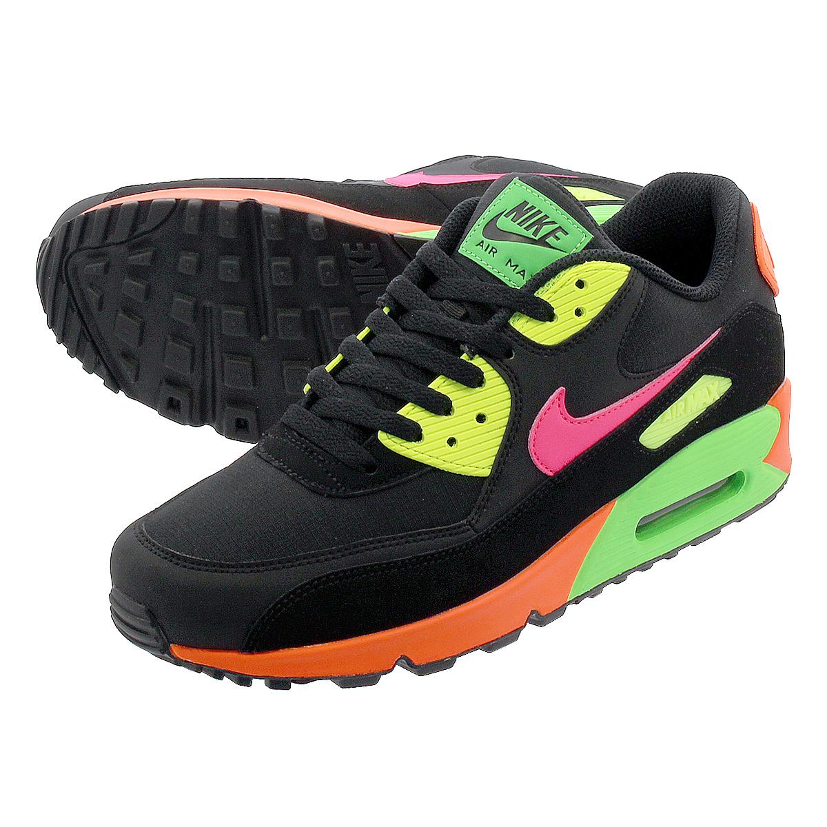 nike air max neon and black