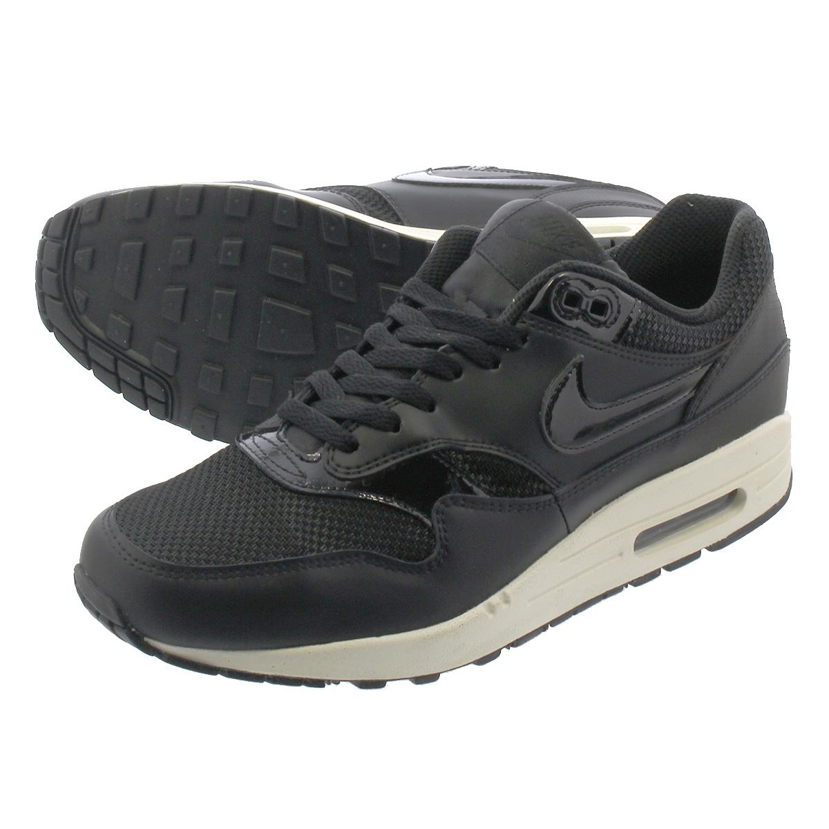 Nike Womens Air Max 1 Black Summit White Trainers 319986 039