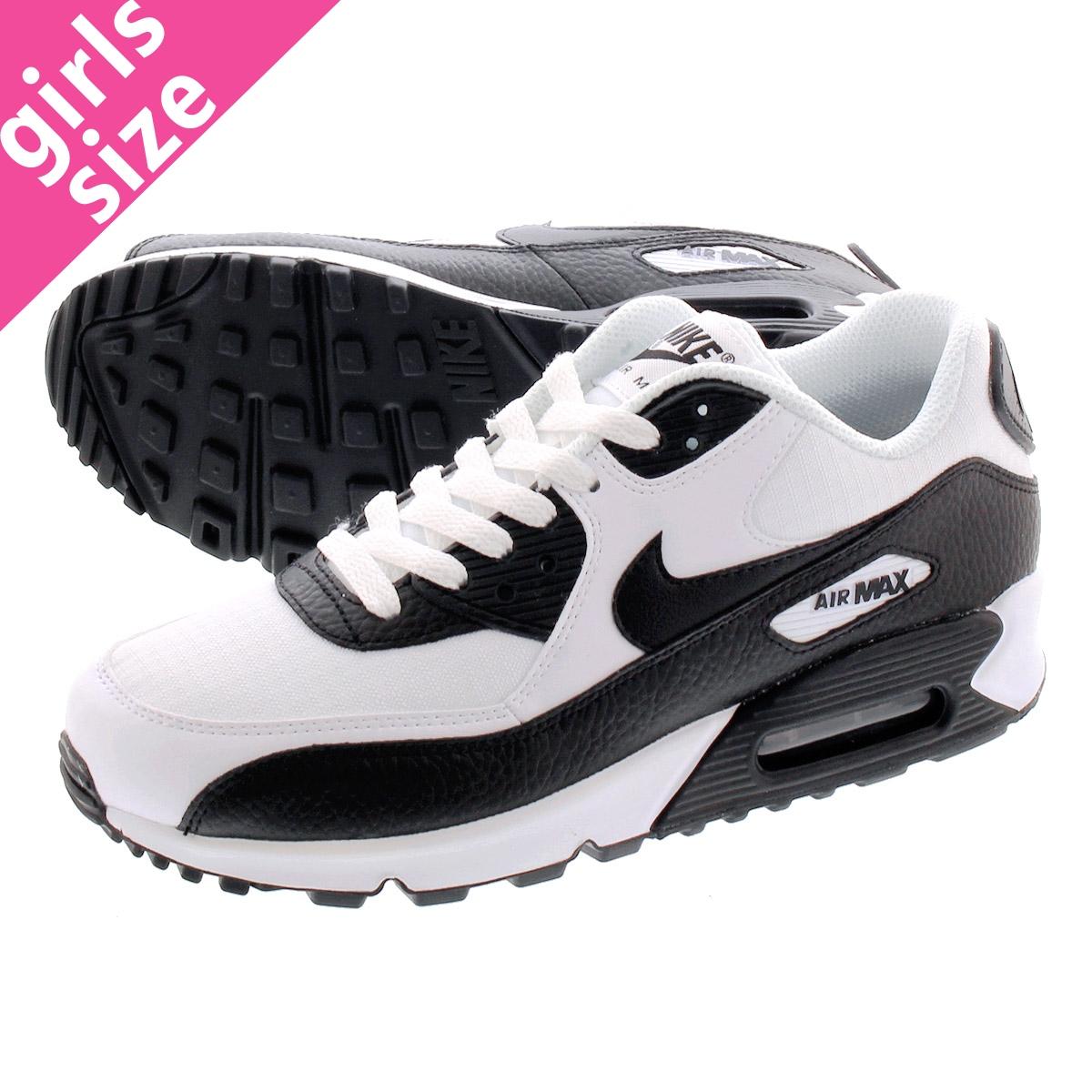 online store 48369 617ed NIKE WMNS AIR MAX 90 Nike women Air Max 90 WHITE BLACK BLACK  ...