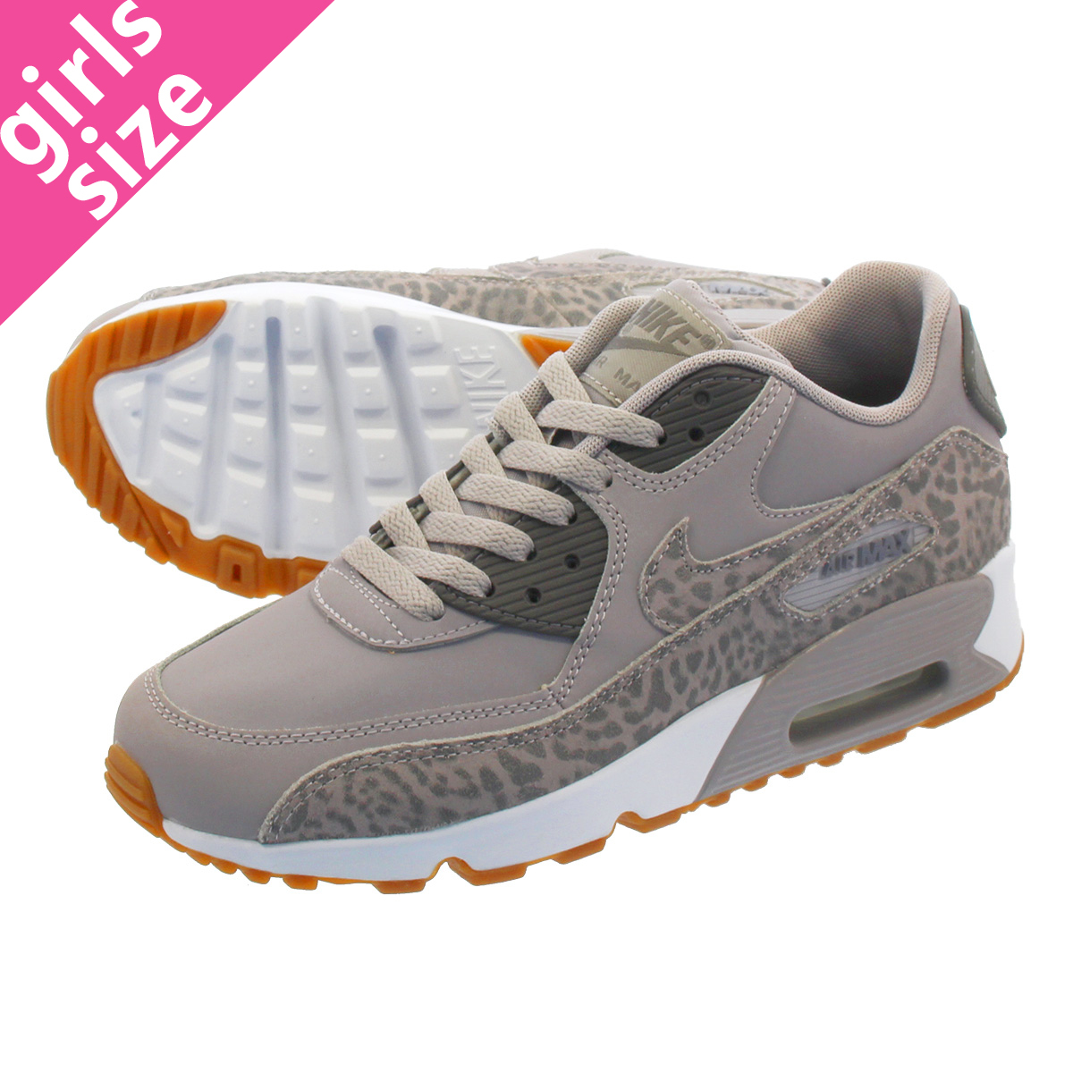 NIKE AIR MAX 90 LTR SE GG Kie Ney AMAX 90 leather SE GG ATMOSPHERE GREYGUNSMOKEWHITE 897,987 004