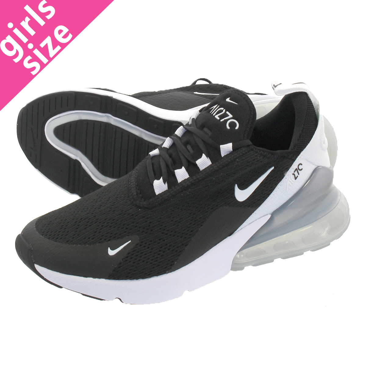 NIKE WMNS AIR MAX 270 Nike women Air Max 270 BLACK/WHITE/PURE  PLATINUM/WHITE ah6789,013
