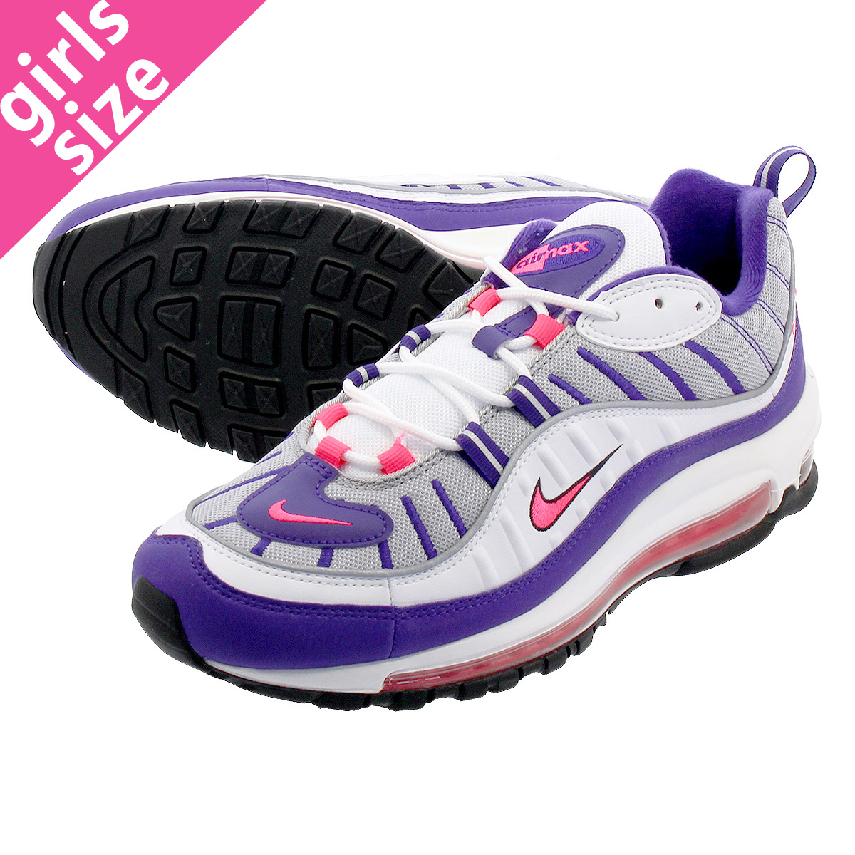 reputable site 0dc0c 94c7b NIKE WMNS AIR MAX 98 Nike women Air Max 98 WHITE RACER PINK REFLECT ...