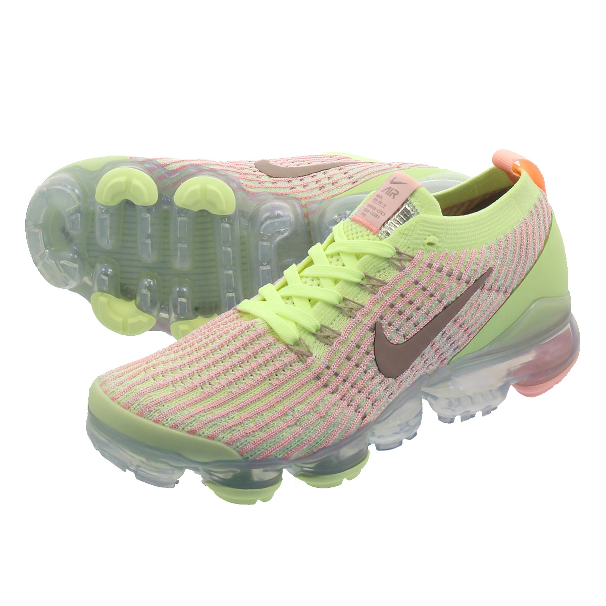 outlet store 0eb92 6c7da NIKE WMNS AIR VAPORMAX FLYKNIT 3 Nike women vapor max fried food knit 3  BARELY VOLT/DIFFUSED TAUPE aj6910-700