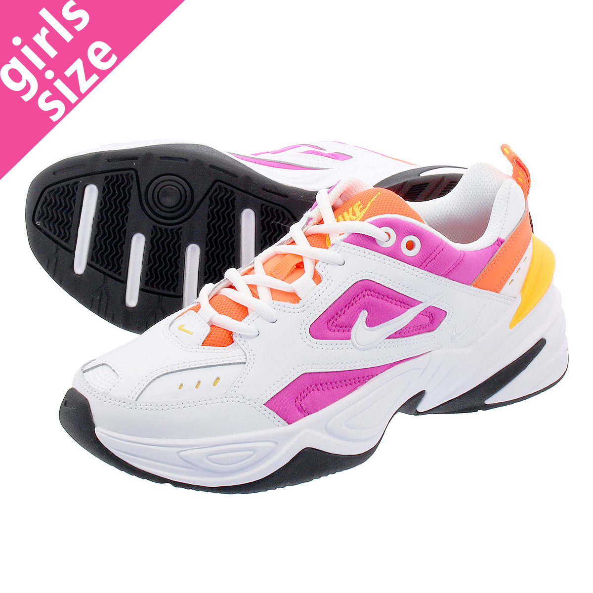 low priced 25b8c 24753 NIKE WMNS M2K TEKNO Nike women M2K techno WHITE LASER FUCHSIA HYPER CRIMSON  ao3108-104