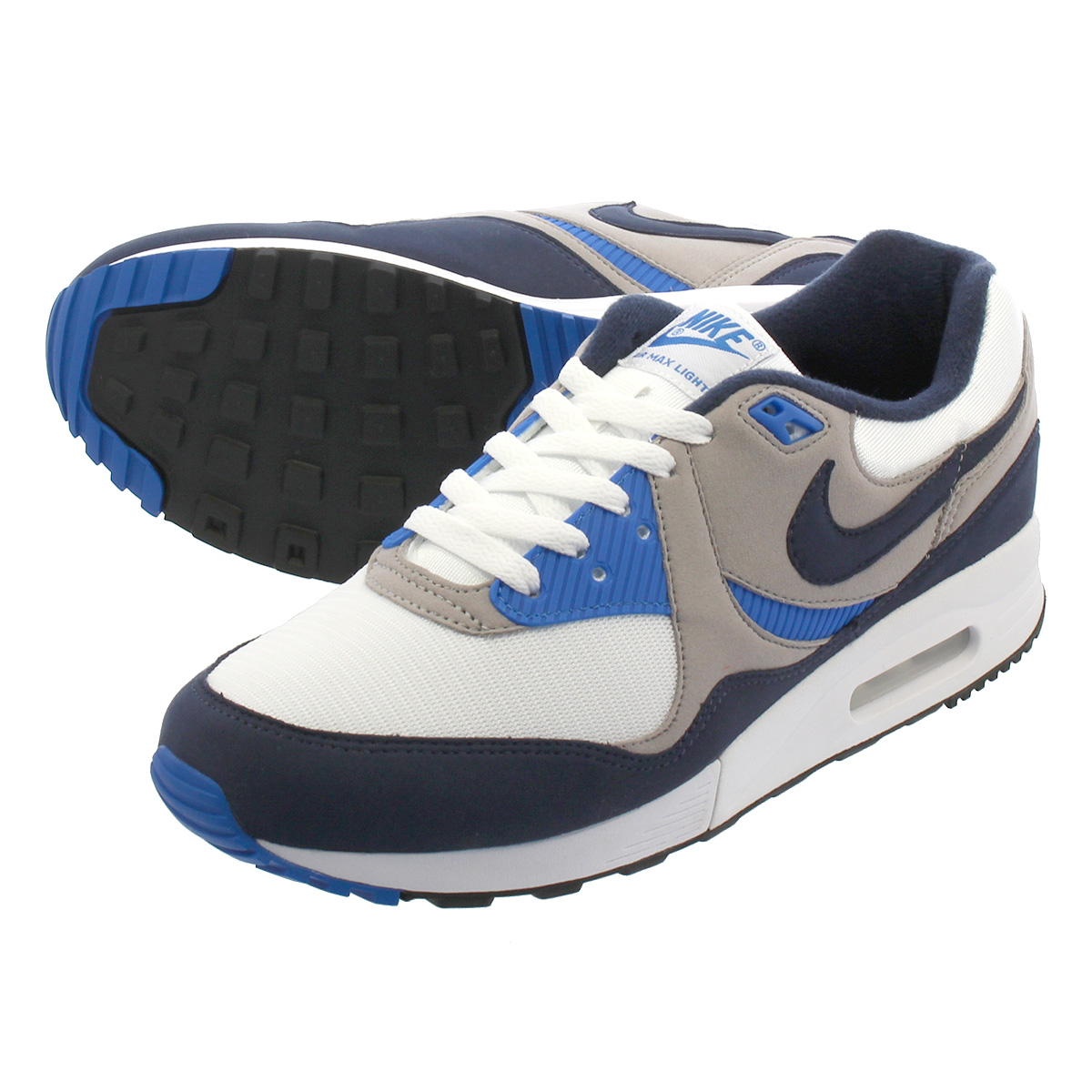 NIKE AIR MAX LIGHT ナイキ エア マックス ライト WHITE/OBSIDIAN/ATMOSPHERE GREY/REGAL BLUE ao8285-100