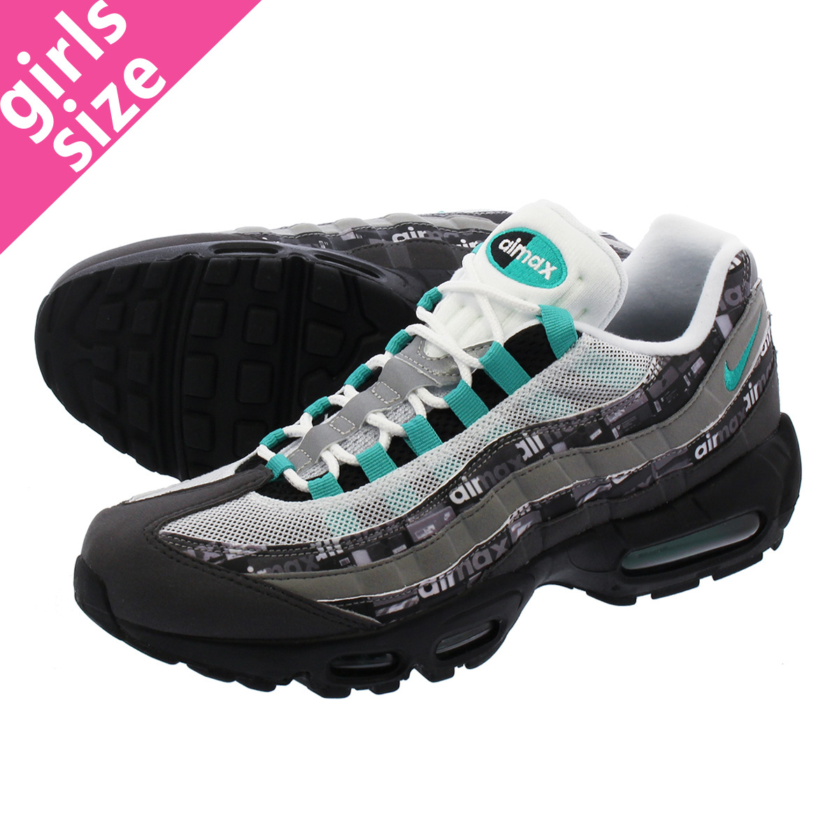 db63c9358e LOWTEX PLUS: NIKE AIR MAX 95 PRINT Kie Ney AMAX 95 print BLACK/CLEAR JADE/MEDIUM  ASH/DK PEWTER aq0925-001 | Rakuten Global Market