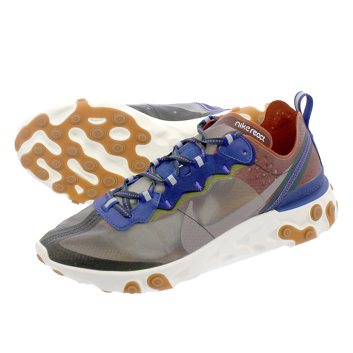 f5aac4a0 NIKE REACT ELEMENT 87 Ney drill act element 87 DUSTY PEACH/ATMOSPHERE GREY  aq1090-200