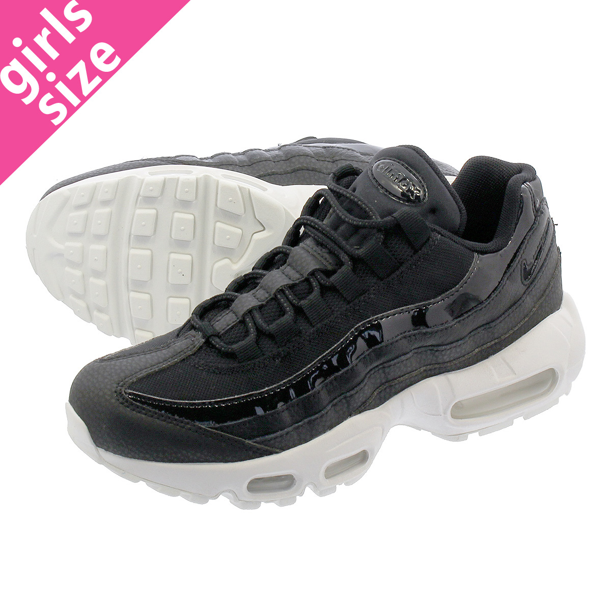 2ea8f04546 LOWTEX PLUS: NIKE WMNS AIR MAX 95 SE Nike women Air Max 95 SE BLACK/BLACK/ SUMMIT WHITE/PLATINUM TINT aq4138-001 | Rakuten Global Market