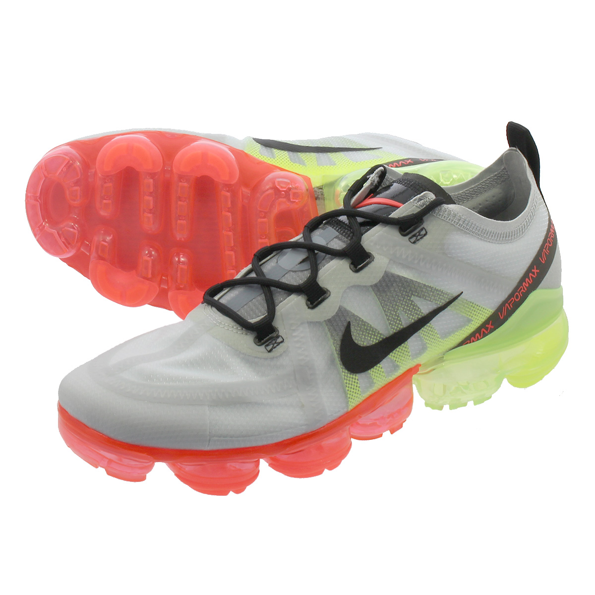 043376a7126dd NIKE AIR VAPORMAX 2019 Nike air vapor max 2019 PURE PLATINUM BLACK VOLT BRIGHT  CRIMSON ar6631-007