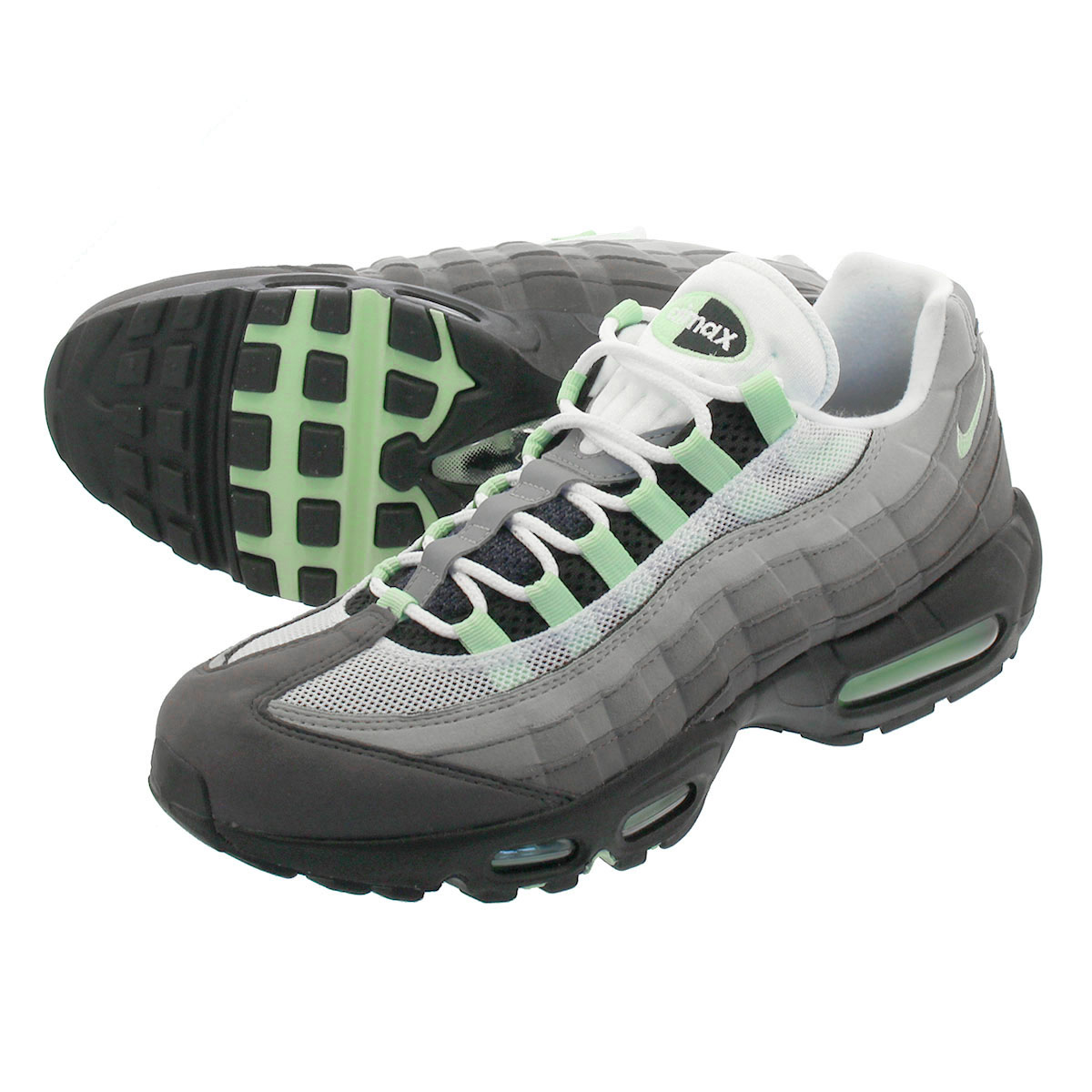 65e0cefd LOWTEX PLUS: NIKE AIR MAX 95 Kie Ney AMAX 95 WHITE/FRESH MINT ...