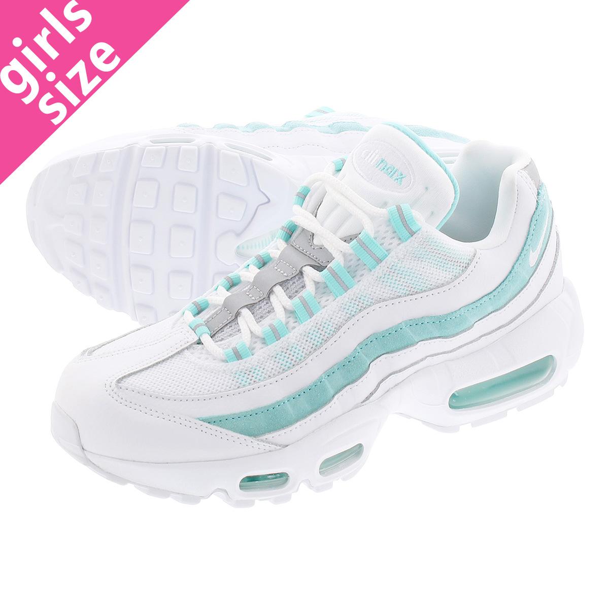 save off 6fb35 f2af1 NIKE WMNS AIR MAX 95 Nike women Air Max 95 WHITE/WHITE/LIGHT AQUA  307,960-115